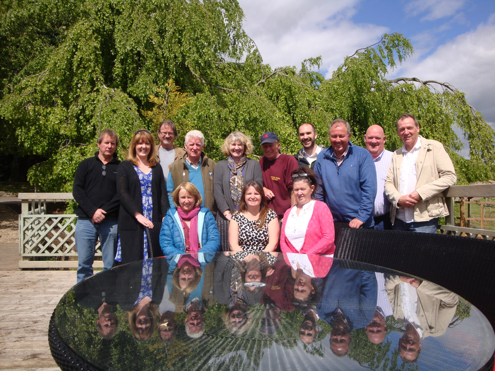 GETTING READY FOR WELSH WINE WEEK: Members of the Welsh Vineyard Association